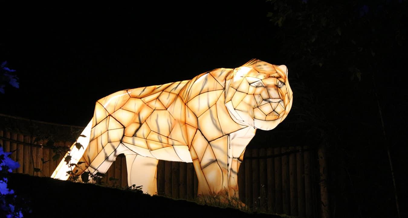 Leuchtender Tiger