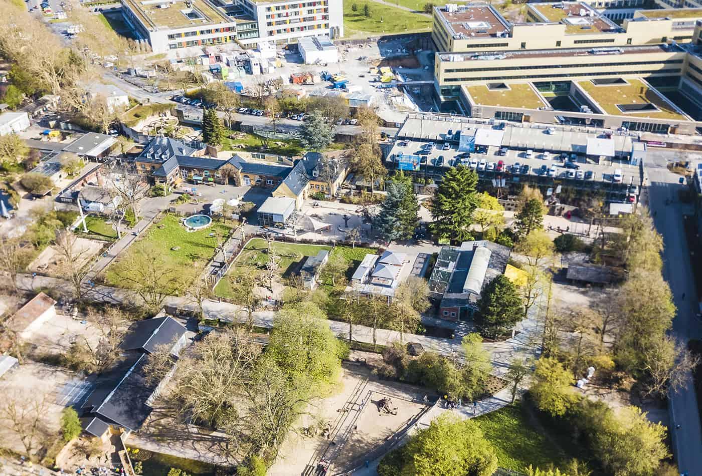 Luftaufnahmen Zoo Heidelberg (Foto: Zoo Heidelberg)
